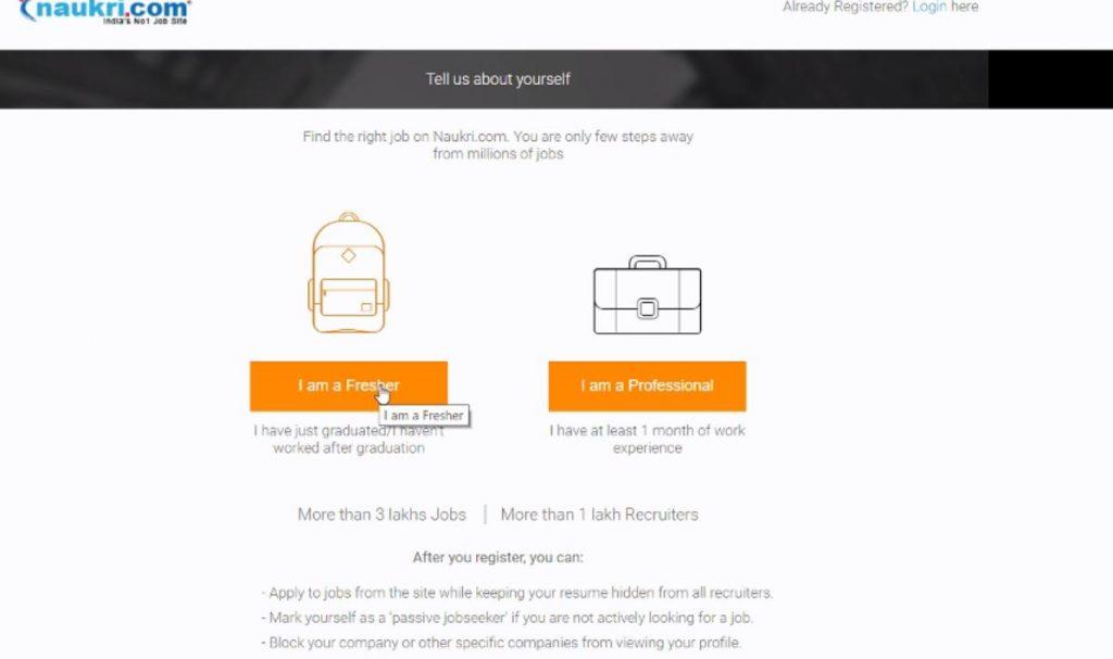 naukri.com पर अप्लाई कैसे करें