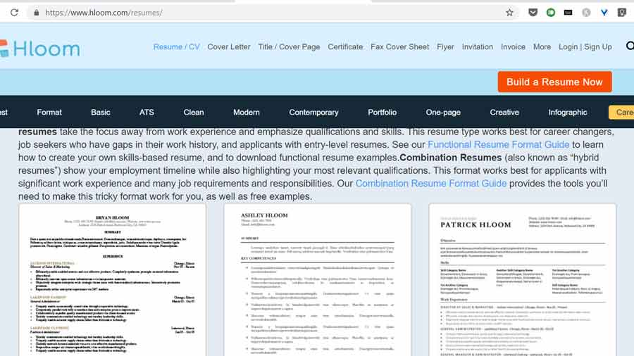 resume formats hloom se kaise download karein