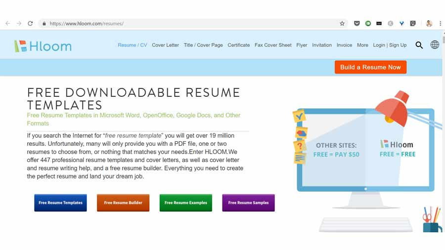 resume format kaise kahan se download kareing hloom.com
