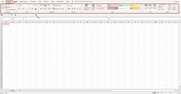 MS Excel part 1- Home tab