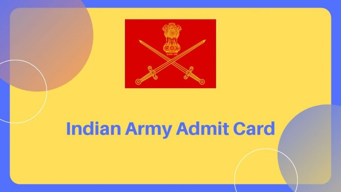 Indian Army Admit Card download kare