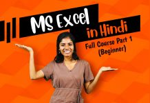ms excel in hindi full tutorial part 1