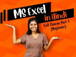 ms excel in hindi full tutorial part 1