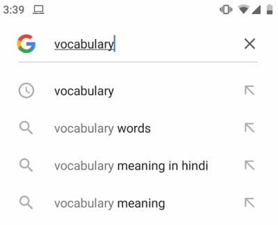 Step:1 Apne phone mein Google App mein word ko type kare