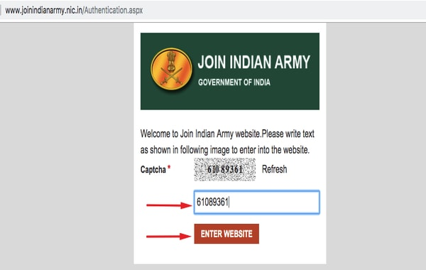 indian army website