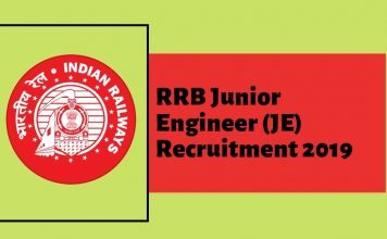 rrb je recruitment details jaise rrb je admit card 2019