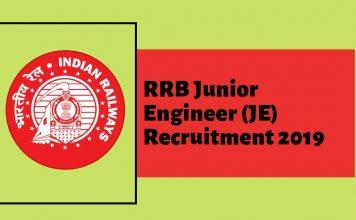rrb je recruitment details jaise rrb je admit card 2019