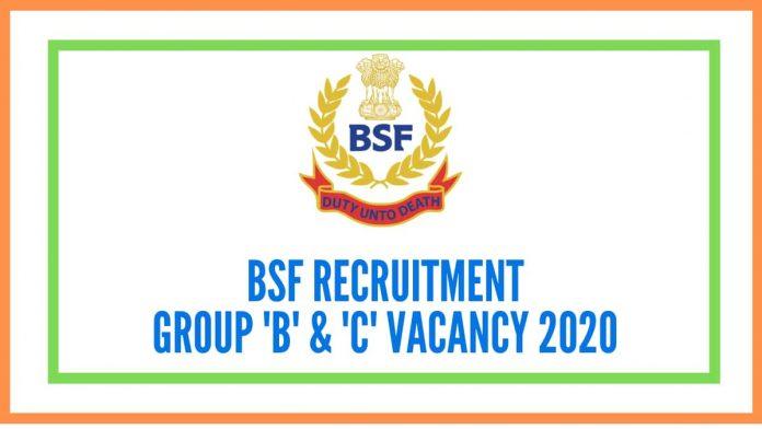 bsf recruitment vacancy details