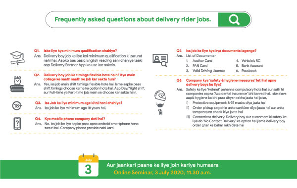 delivery boy salary and other details