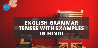 English Grammar Tenses in Hindi